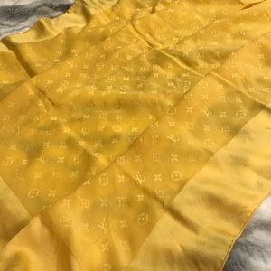 Louis Vuitton Large Yellow Silk Scarf Square